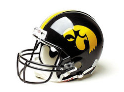 "Iowa Hawkeyes Full Size Authentic ""ProLine"" NCAA Helmet by Riddell"