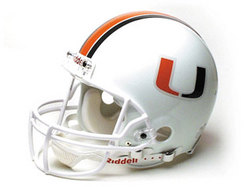 "Miami Hurricanes Full Size Authentic ""ProLine"" NCAA Helmet by Riddell"