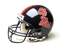 "Mississippi Rebels Full Size Authentic ""ProLine"" NCAA Helmet by Riddell"