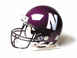 "Northwestern Wildcats Full Size Authentic ""ProLine"" NCAA Helmet by Riddell"