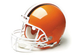"Cleveland Browns Full Size Authentic ""ProLine"" NFL Helmet by Riddell"