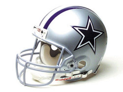 "Dallas Cowboys Full Size ""Deluxe"" Replica NFL Helmet by Riddell"