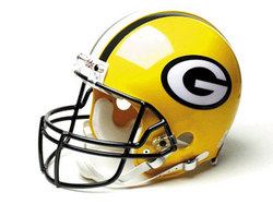 "Green Bay Packers Full Size ""Deluxe"" Replica NFL Helmet by Riddell"