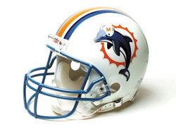 "Miami Dolphins Full Size ""Deluxe"" Replica NFL Helmet by Riddell"