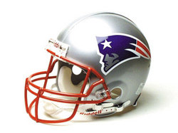 "New England Patriots Full Size ""Deluxe"" Replica NFL Helmet by Riddell"