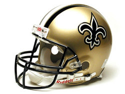 "New Orleans Saints Full Size Authentic ""ProLine"" NFL Helmet by Riddell"