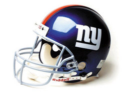 "New York Giants Full Size ""Deluxe"" Replica NFL Helmet by Riddell"