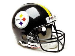 "Pittsburgh Steelers Full Size ""Deluxe"" Replica NFL Helmet by Riddell"