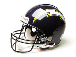 "San Diego Chargers Full Size ""Deluxe"" Replica NFL Helmet by Riddell"