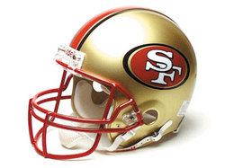 "San Francisco 49ers Full Size ""Deluxe"" Replica NFL Helmet by Riddell"