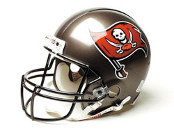 "Tampa Bay Buccaneers Full Size ""Deluxe"" Replica NFL Helmet by Riddell"