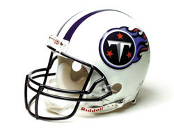 "Tennessee Titans Full Size ""Deluxe"" Replica NFL Helmet by Riddell"