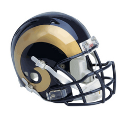 "Saint Louis Rams Full Size Authentic NFL ""Revolution"" Helmet by Riddell"