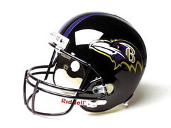 "Baltimore Ravens Full Size Authentic ""ProLine"" NFL Helmet"