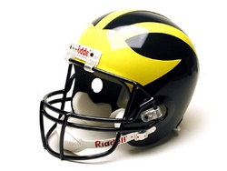 A- Michigan Wolverines Deluxe Football Helmet